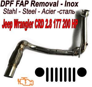 Downpipe-DPF-FAP-suppression-Jeep-Wrangler-2-8-CRD-177-200-BHP-voler-Inox