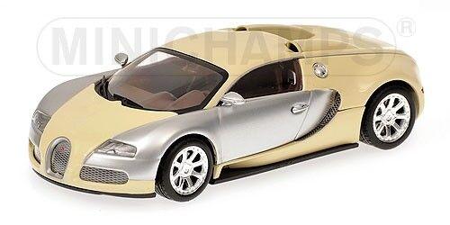 Bugatti Veyron Centenaire Edition Beige & Crome 1 43 Model MINICHAMPS