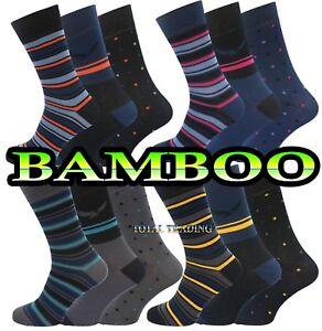 Mens-Bamboo-Socks-3-12-pairs-antibacterial-cooler-feet-summer-SEAM-FREE-TOE-LOT