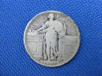 1917 TYPE 1 SILVER U.S. STANDING LIBERTY QUARTER COIN