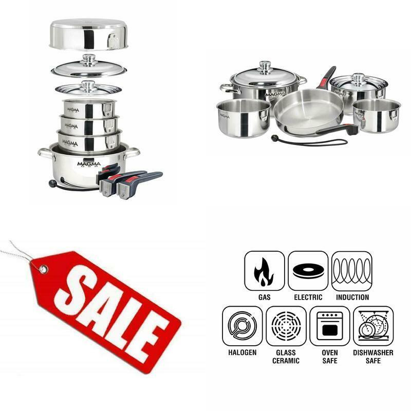 10 pcs Gourmet Nesting Stainless Steel Cookware Set induction cuisson four