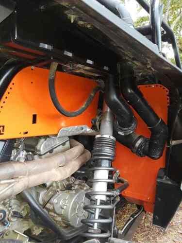 orange Polaris rzr 1000xp rear tub bed box guards turbo protectors plates shild
