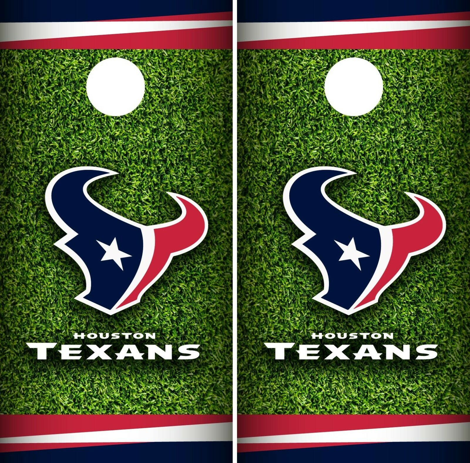 Houston Texans Field Cornhole Wrap NFL Game Skin Board  Set Vinyl Decal CO76  discount promotions
