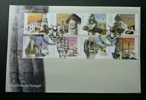 SJ-Portugal-Pillories-2001-Historical-Building-Heritage-stamp-FDC