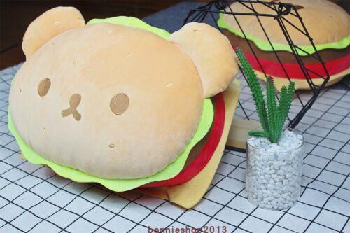 Cute burger bear Pillows Animals Cushion Sofa Decor Plush Toys