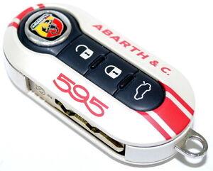 Fiat 500 595 Abarth & Co 50th Anniversary Key Cover WHITE New Genuine 5745277W