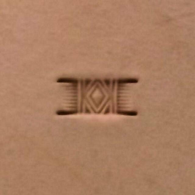 """Basketweave Diamond Leather Stamp PX004 Size 3/8"""" L (9.5 mm) by Hide Crafters"""