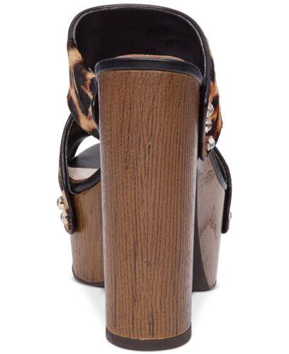 Size 8.5 Leopard Prnt Black JS-WYNNE2 Women/'s Jessica Simpson Wynne2 Sandals