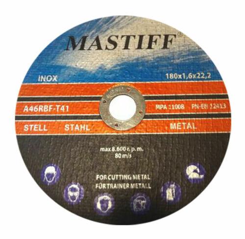 10-TAR-MAS-180//1,6 10x Flexscheiben 180 x1,6Metalltrennscheiben Inox Edelstahl