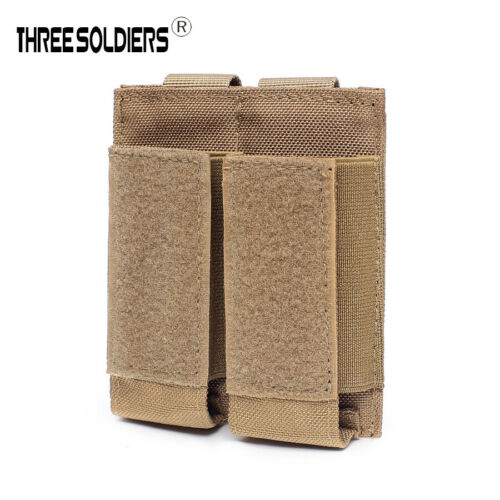 Details about  /Military Tactical Modular Molle Double Magazine Pouch Holster Pistol Mag Holder