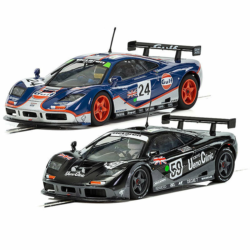 SCALEXTRIC Slot Cars C3965A C3969 McLaren F1 GTR 1995 - Le Mans & Gulf