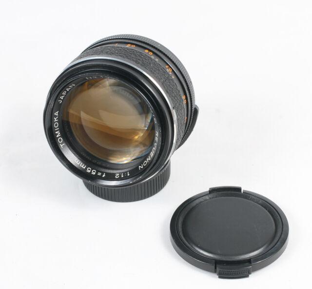 Tomioka Auto Revuenon 55mm f/1.2 M42 camera  lens