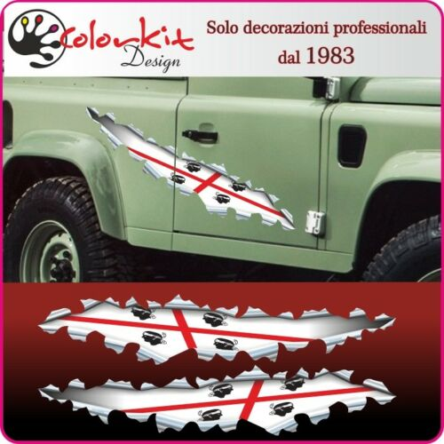 By Colorkit 001388 cm.30x6 Adesivo bandiera Sardegna effetto strappo