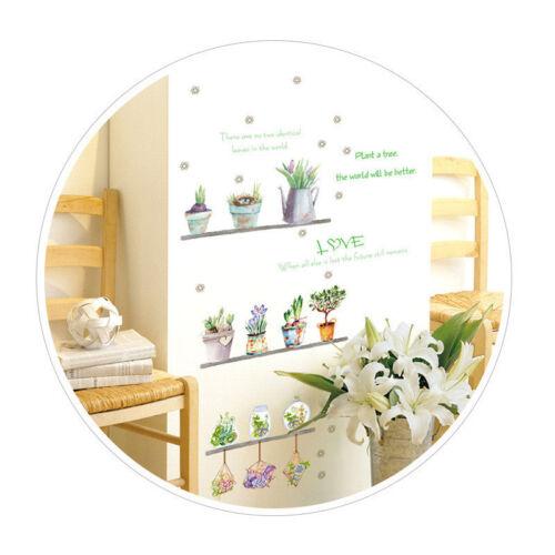 DIY Potted Plant Wall Sticker Letter Flower Pot Sticker for Living Room Fresh