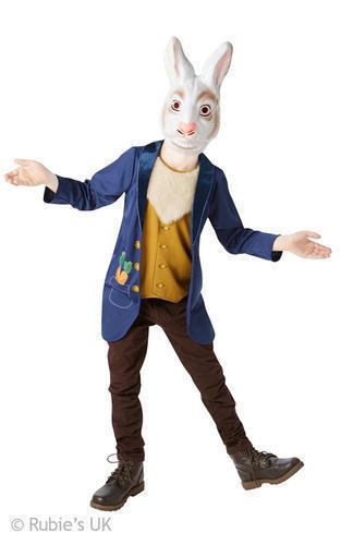 Mr White Rabbit Fancy Dress Hare Wonderland Book Week Day Kids Childrens Costume