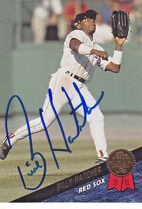 1993-Leaf-Signed-109-Billy-Hatcher-Red-Sox-Autograph-JSA