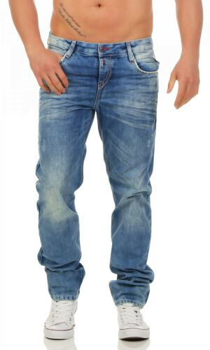Regular Fit-Blu Uomo Pantaloni Jeans Cipo /& Baxx-c-1068
