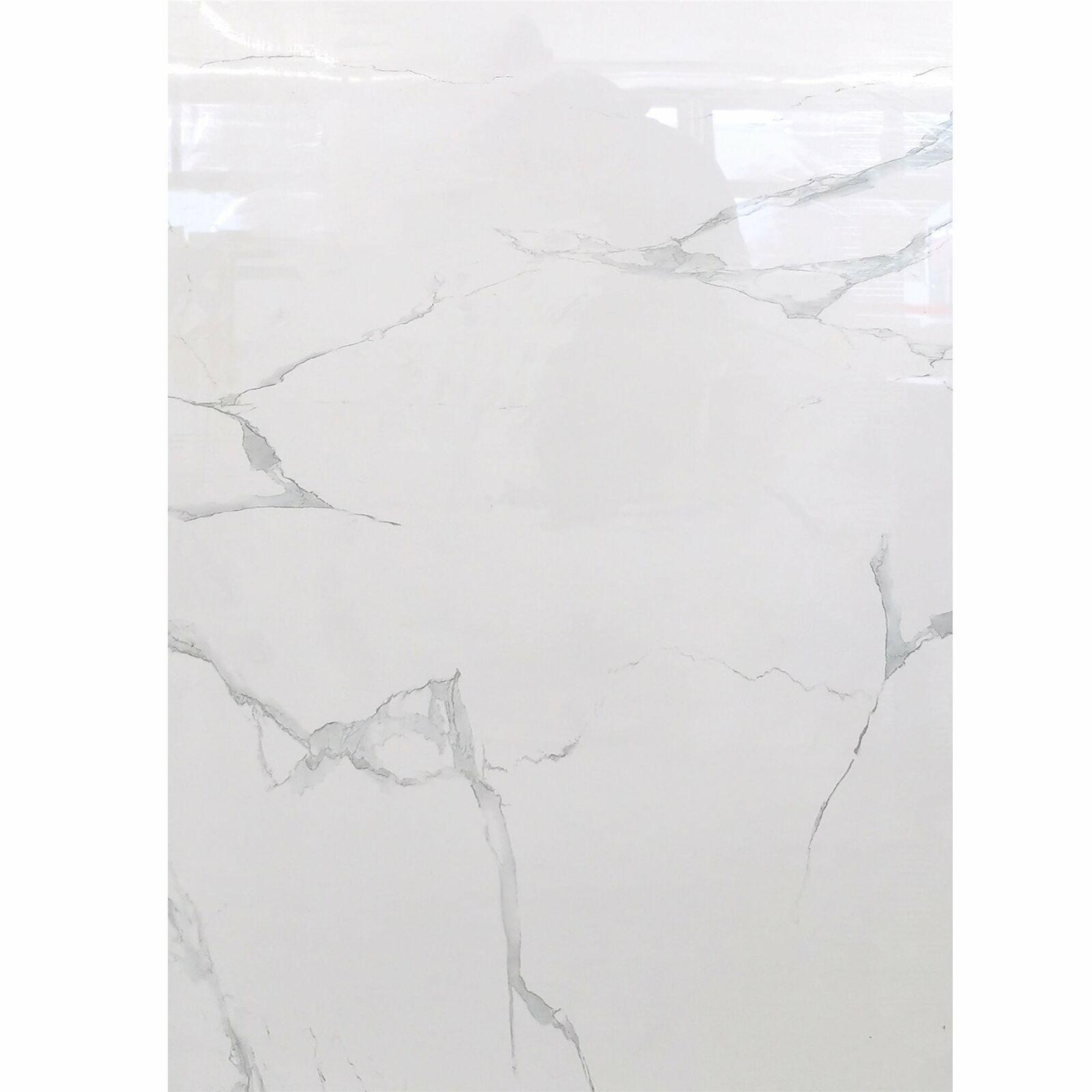 Bodenfliesen Marmo Statuario grau Poliert 60x120cm für Cafe Pub Bar & Restaurant