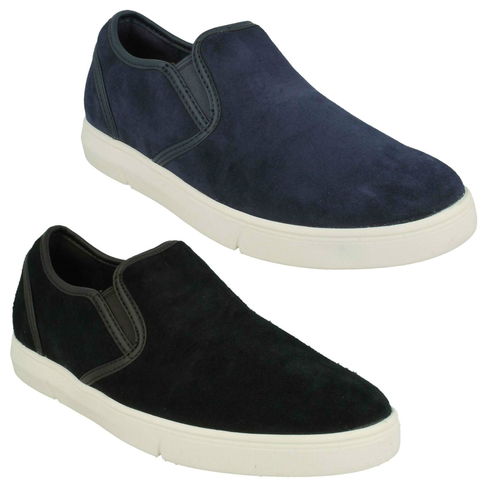 MENS CLARKS LANDRY STEP SMART CASUAL SPORTS SLIP ON PUMPS SUEDE LEATHER EVERYDAY