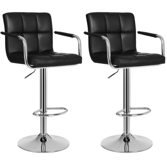 Tabourets Hauteur Simili Bar Haut Chaise Pu Chrome Cuir Songmics rhCdBtsQx