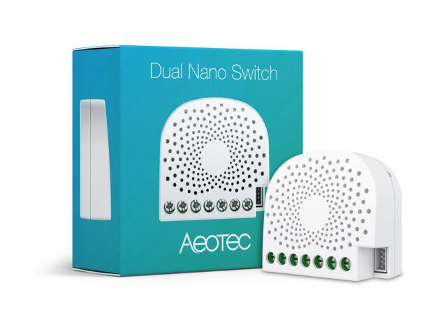 AEOTEC - Z-Wave Dual Nano Switch with Power Metering ZW132