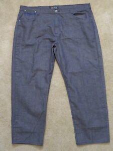 100% Vrai Pour Hommes Jinzu Jeans Coupe Décontracté Gris Pantalon Bleu Couture Gros &