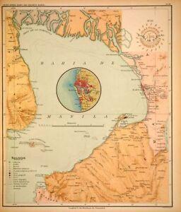 PHILIPPINE-ISLANDS-ATLAS-FILIPINAS-1899-Original-Antique-Book-Complete-30-maps