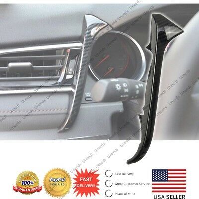 for Toyota Camry 2018 ABS Carbon Fiber Front Cover Dashboard Left Outlet Cover