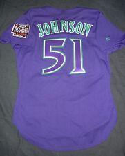 AUTHENTIC Russell Athletic RANDY JOHNSON ARIZONA DIAMONDBACKS Purple Jersey 44
