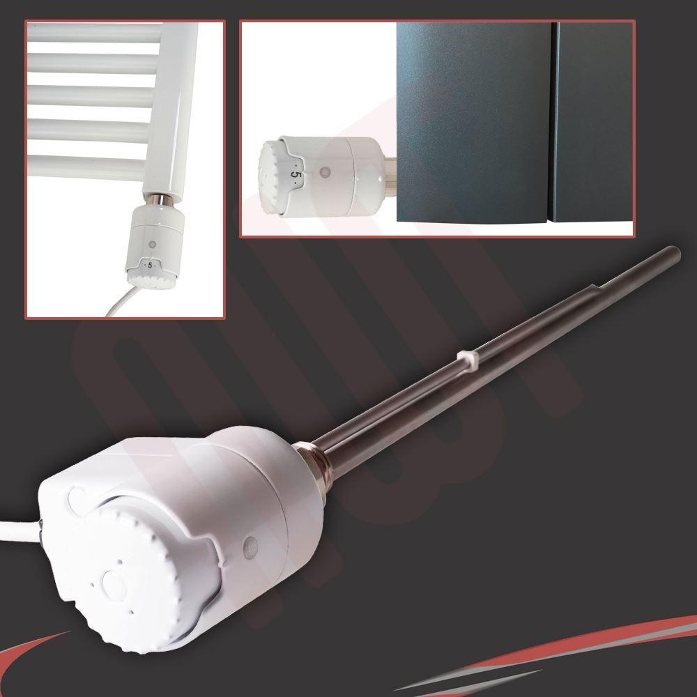 300W RICA  Atlantis  Weiß Thermostatic Electric Towel Rail OR Radiator Element