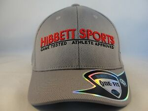 c261a0d3c29f9 Image is loading Hibbett-Sports-Flex-Cap-Hat-Size-M-L-Gray