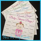 Baby Shower Game - BINGO - 24 Guests - GENERIC