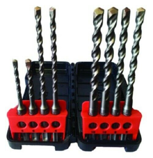 Bosch SDS-PLUS HAMMER DRILL BIT SET 3-10mm 8-Tools, Tough Carry Case