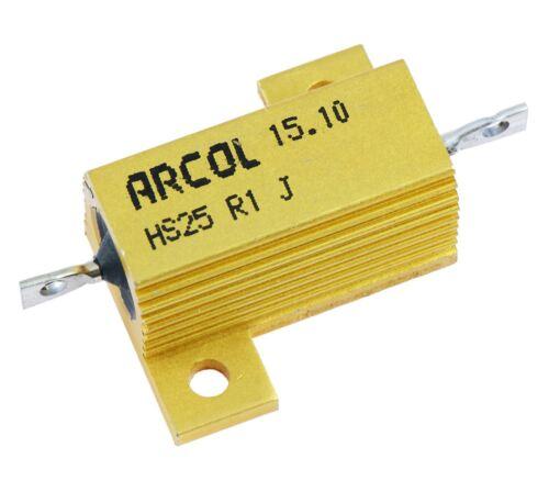 1r ARCOL 25w de aluminio revestido resistor Hs25