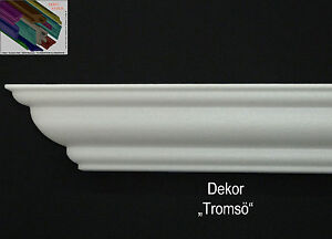 Stuckprofil-Stuckleiste-Zierprofil-40-Meter-8-I-A-Ecken-Dekor-034-Tromsoe-034