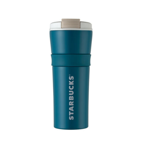 Starbucks Korea 2019 Summer Limited DT SS Maddie Teal Blue Coldcup Tumbler 473ml