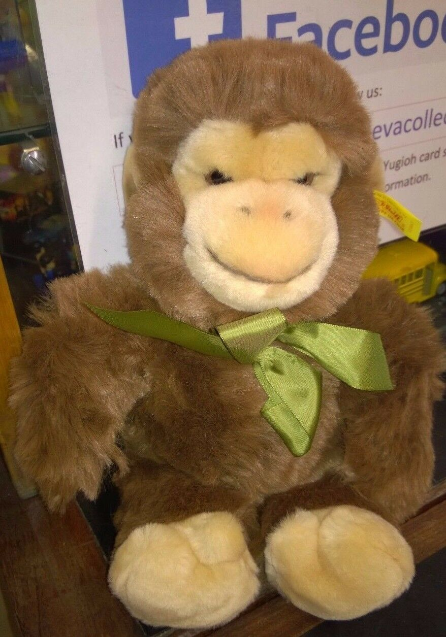 Steiff Vintage soft toy Marrone Monkey Poppy Monkey 123047 Loose SPEDIZIONE GRATUITA Regno Unito.