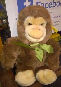 Steiff-Vintage-soft-toy-brown-monkey-poppy-monkey-123047-loose-Free-Postage-UK