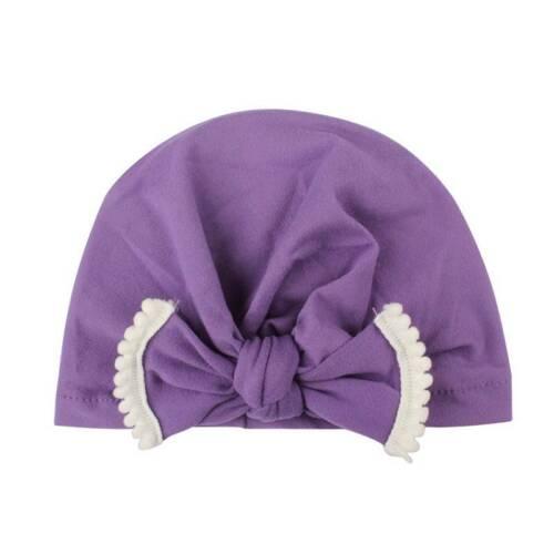 Infant Baby Girl Newborn Knot India Turban Cap Beanie Hat Head Wrap Headband UK