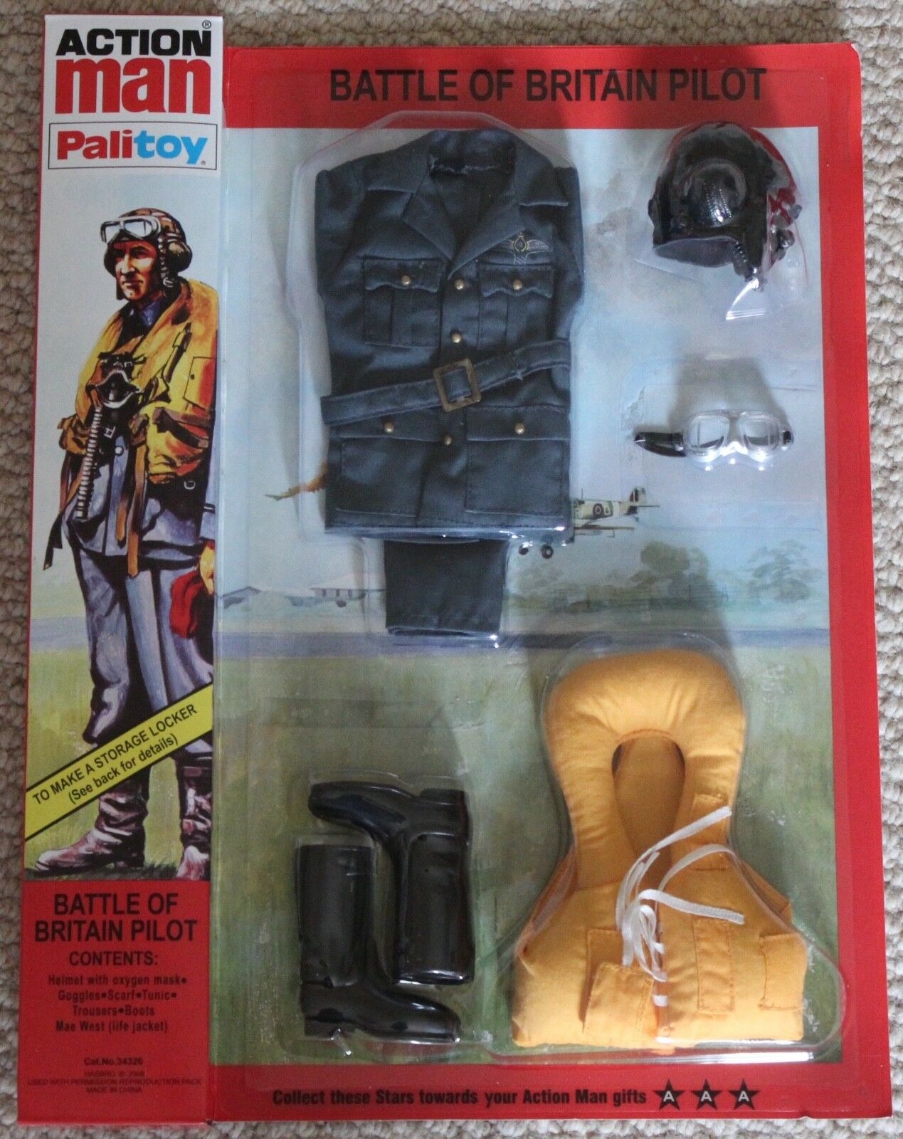 Vintage action man 40th anniversary battle of britain pilot card boxed