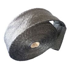 2'' Uinversal Black 50Ft Exhaust Header Fiberglass Heat Wrap Tape+6 Ties Kit