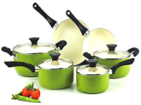 Cookware Set Pots And Pans Non-stick Ceramic Coating 10-piece Cooking Kitchen