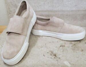 Vince Cage platform suede sneaker gray