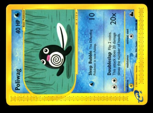 CARTE N°  87//144 POLIWAG POKEMON SKYRIDGE ENGLISH CARD