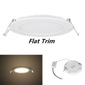 new styles d6faa e52c7 Details about Facon 6Inch 12V RV LED Recessed Light Slim Panel Light Puck  Light with Flat Trim