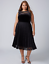 Lane-Bryant-Velvet-Pleated-Midi-Dress-Womens-Plus-20-22-Black-Lace-Skirt-2x-3x thumbnail 1