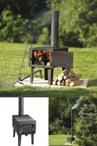 Small Outdoor Wood Burning Stove Fireplace Steel Heater