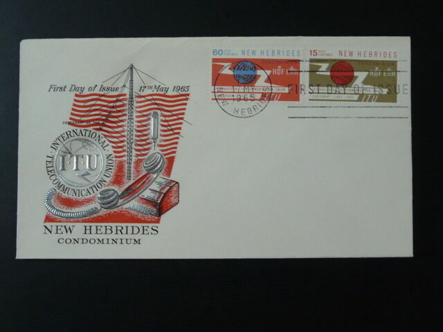 telephone centenary of ITU FDC New Hebrides 74399