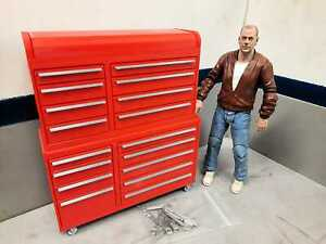 Tool-Box-Master-Set-Red-1-10-scale-Shop-Garage-Crawler-Doll-House-Accessories
