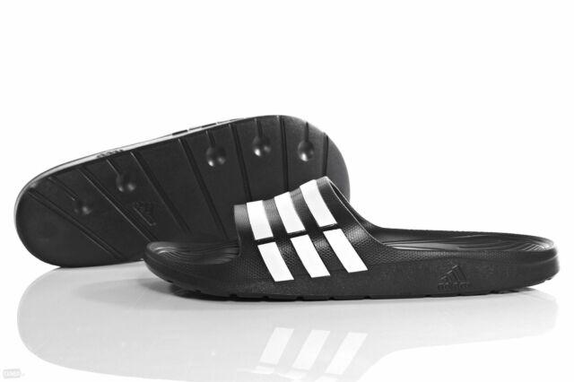 21e40188b adidas Duramo Slide Adilette Bath Sandals Sandal Slippers Black ...